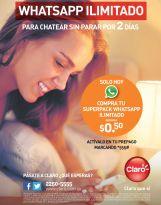 Superpack CLARO whatsapp ilimitados por solo 50 centavos de dolar - 11abr15