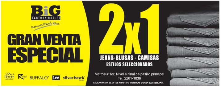 The BIF special SALE of JEANS - 24abr15