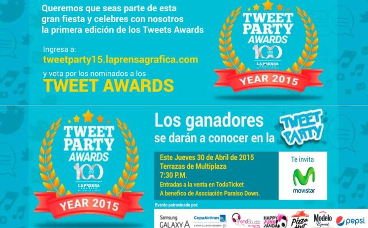 Tweet PARTY AWARDS year 2015 elsalvador