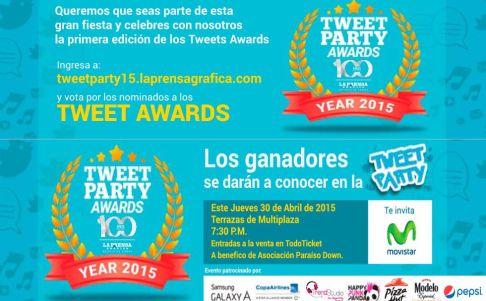 Tweet PARTY AWARDS year 2015 elsalvador