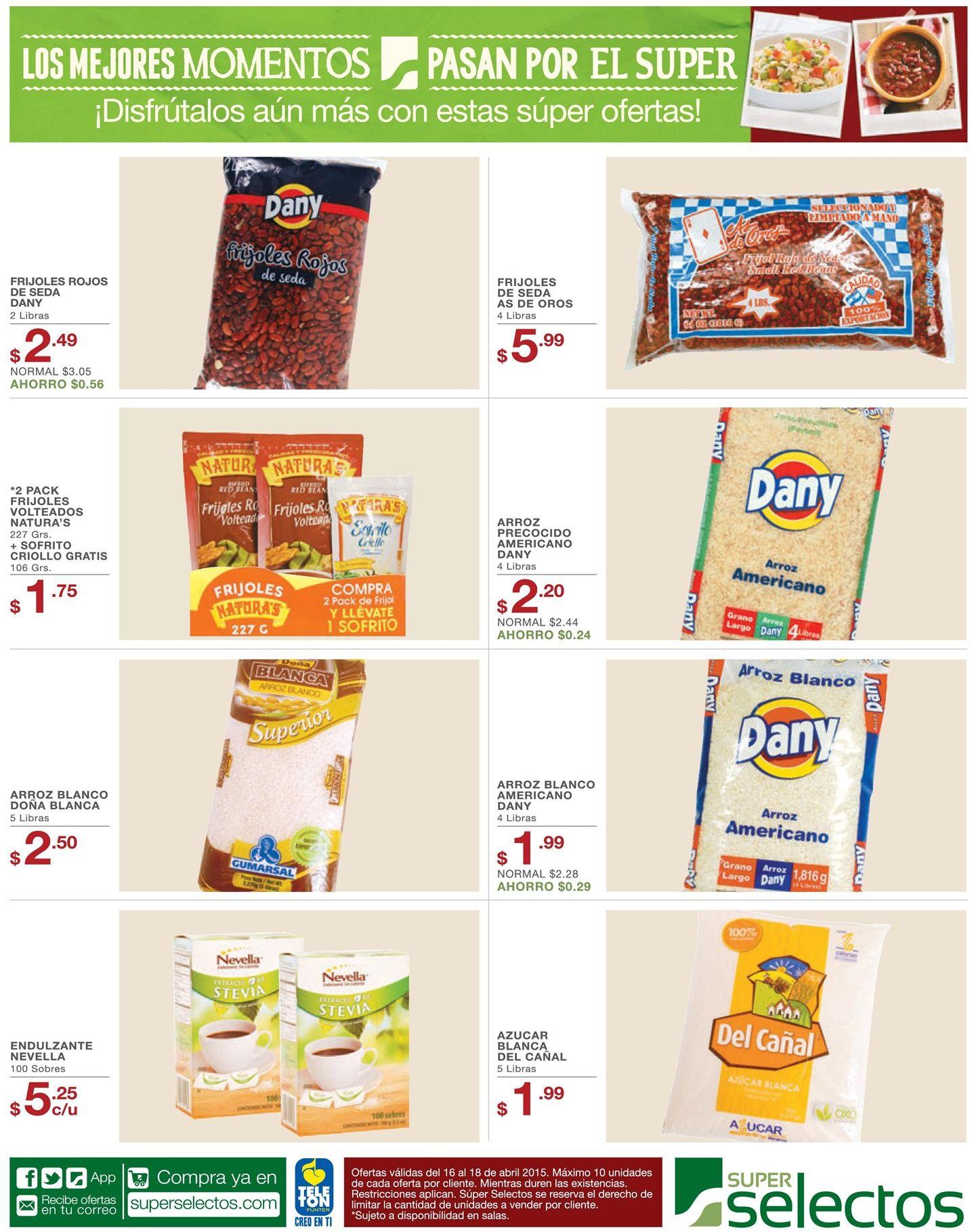 granos basicos en ofertas super selectos - 16abr17