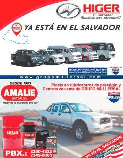 new brand carros el salvador HIGER motors by grupo MULLERSAL