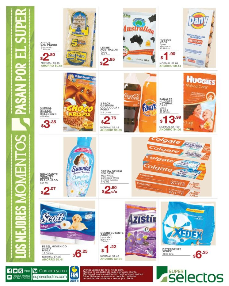super selectos venta de productos canasta basica - 10abr15