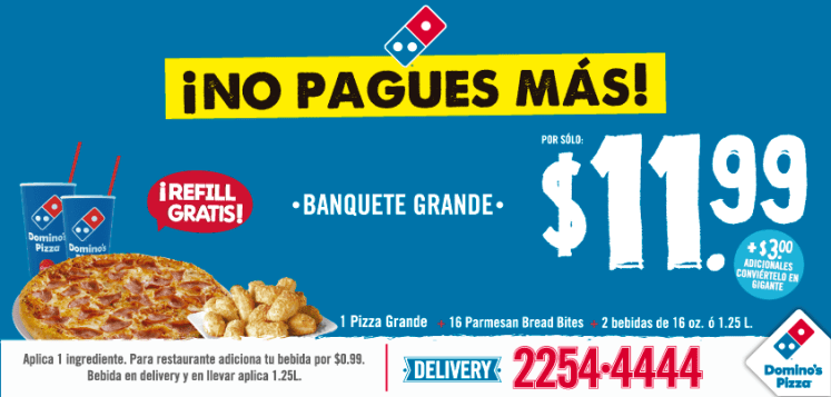 un combo ideal para comer y compartir DOMINOS PIZZA - 29abr15