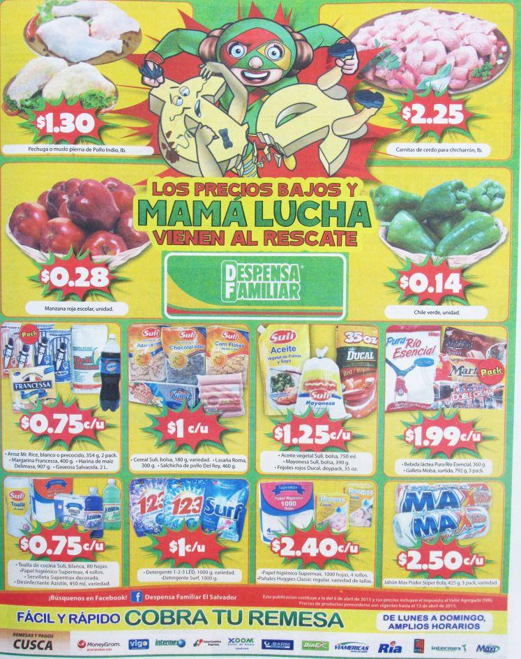 ventas de productos a buen precio supermercado despensa familiar - 10abr15