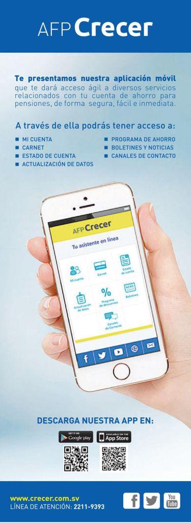 AFP CRECER el salvador Descargar APP acceso a tu cuenta