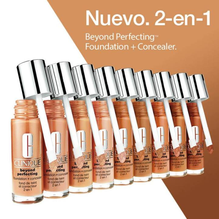 CLINIQUE beyond perfecting 2 en 1 Base para maquillaje y corrector
