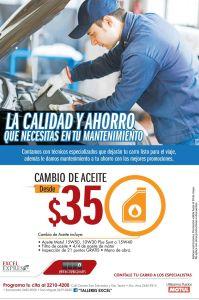 Cambio de aceite MOTUL para tu auto desde 35 dolares - 05may15