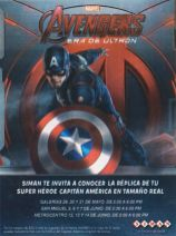 Capitan America Replica real size AVENGERS era de ultron