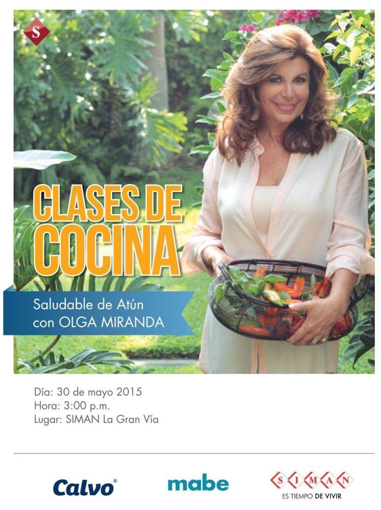Clases de cocina con OLGA MIRANDA