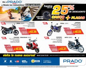 Economiza gasolina y tiempo MOTOS SERPENTO de PRADO - 15may15
