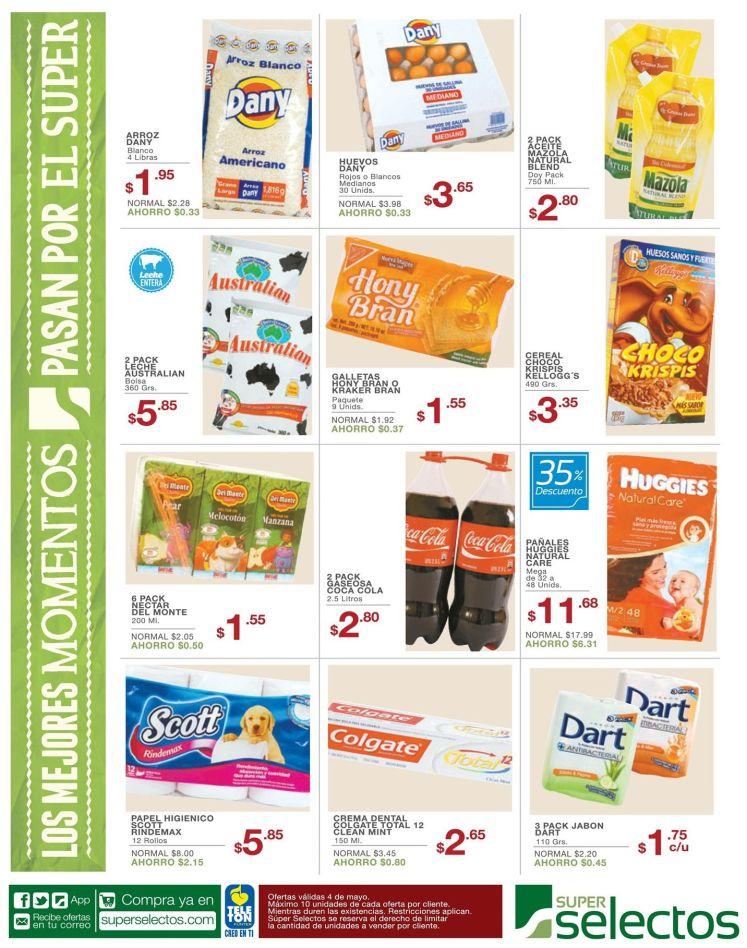 Inicia la semana con tus compras en super selectos - 04may15