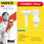 Inodoro con lavamnos de pedestal OFERTA VIDRI - 26may15