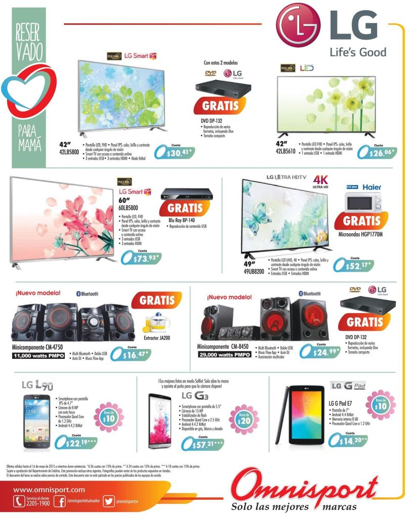 LG electronic system TV cellphones and more OMNISPORT promotions - 02may15