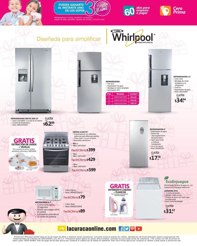 La Curacao Electrodomesticos WHIRPOOL ofertas dias de las madres - 08may15