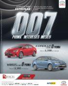 Licencia para estrenar CARRO NUEVO toyota promociones - 12may15