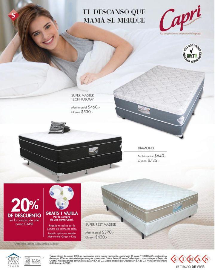 MAMA merece un descanso perfecto DeSCUENTO en camas CAPRI - 04may15