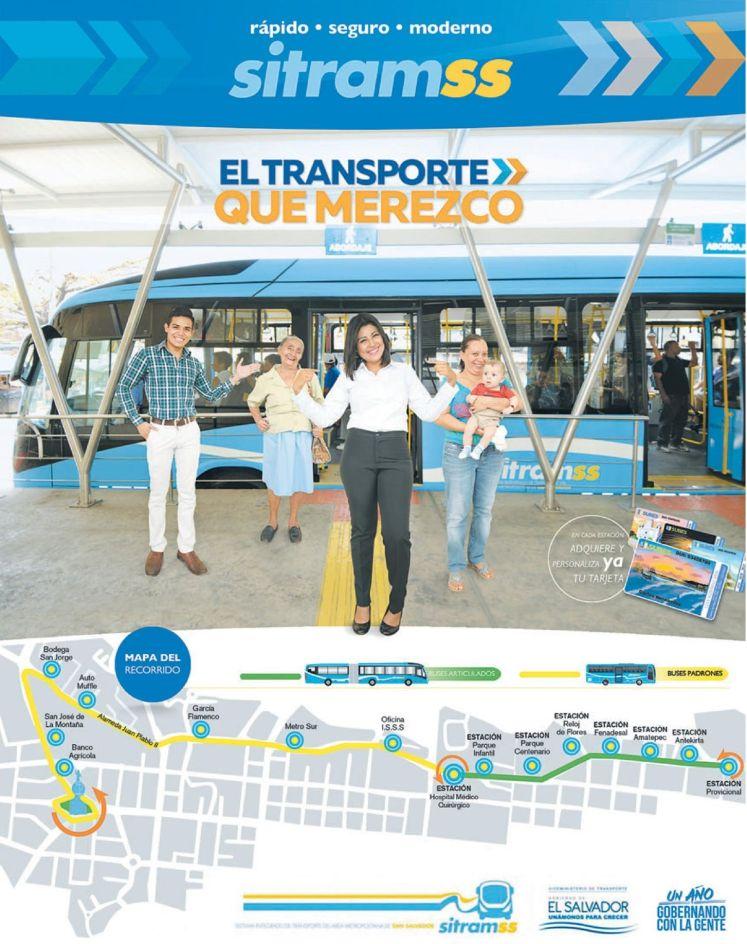 MAPA de recorrido SITRAMSS 2015 paraas de buses