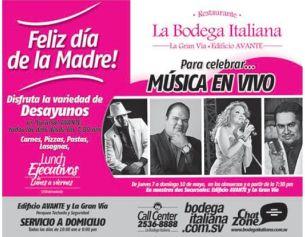 MUSICA en vivo la bodega italiana dia de las madres