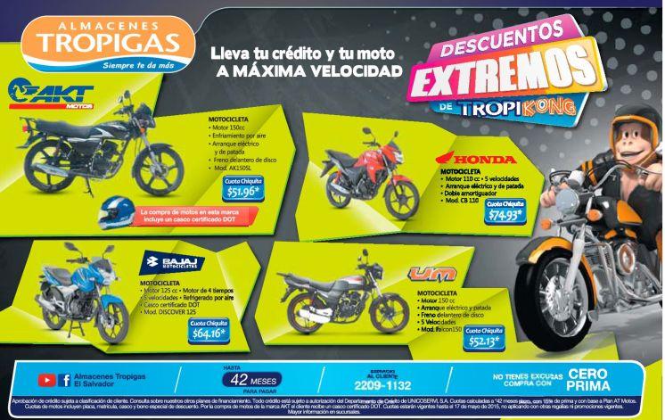 Maxima velocidad con estas ofertas en motos tropigas - 16may15