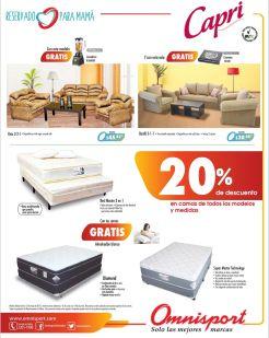 Muebles y CAmas capri con 20 OFF en almacenes omnisport - 09may15