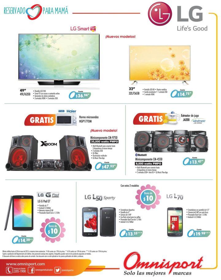 OMNISPORT calidad y rendimiento tecnologico con productos LG