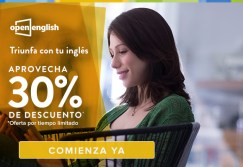 OPEN english descuento 30 OFF triunfa con tu ingles