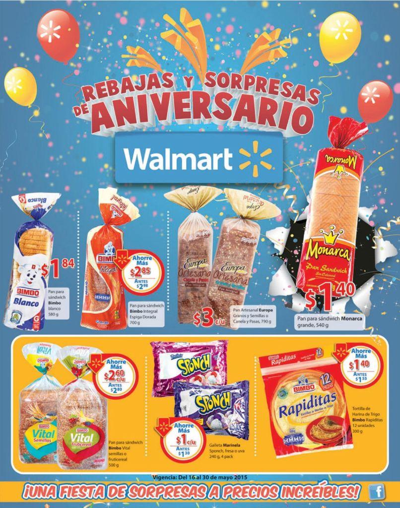 PAN blanco integral RAPIDITAS galletas ofertas WALMART finde - 16may15