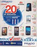 PRADO llevate tu smartphone huawei con 20 OFF y garantia extendida