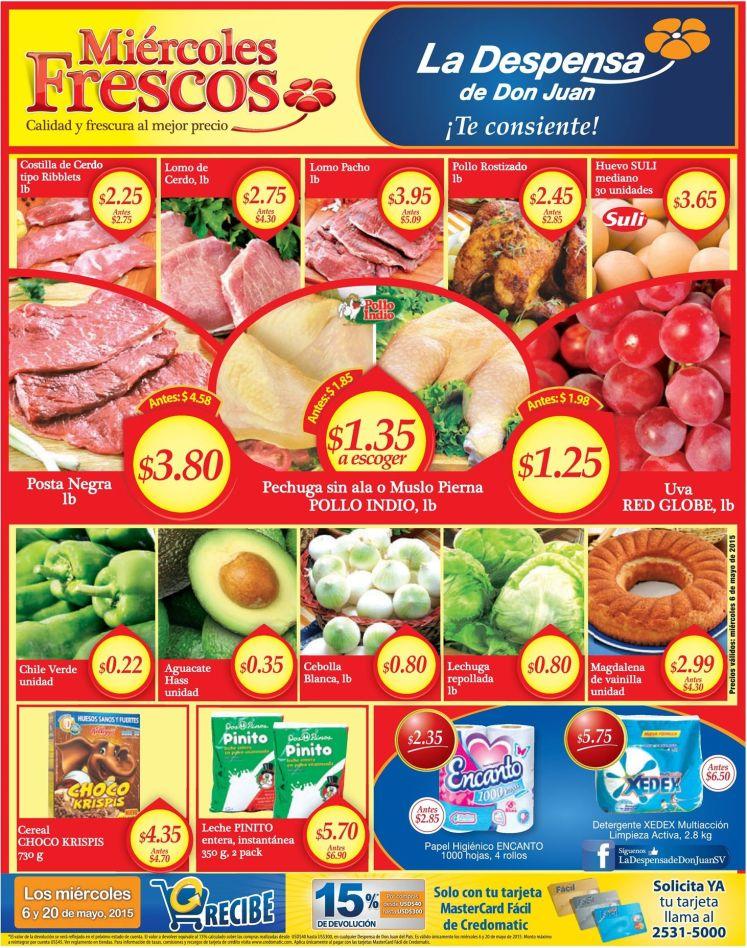 Precios en oferta por tus compras de miercoles en la despensa - 06may15