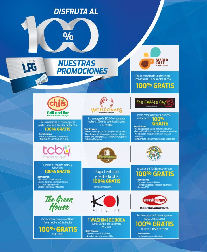 Promociones para suscriptores del CLUB LPG - 02may15