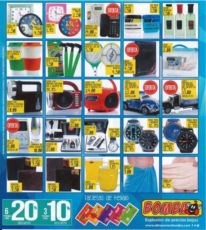 Regalos y Accesorios con buenos precios en ALMACEN BOMBA - 29may15