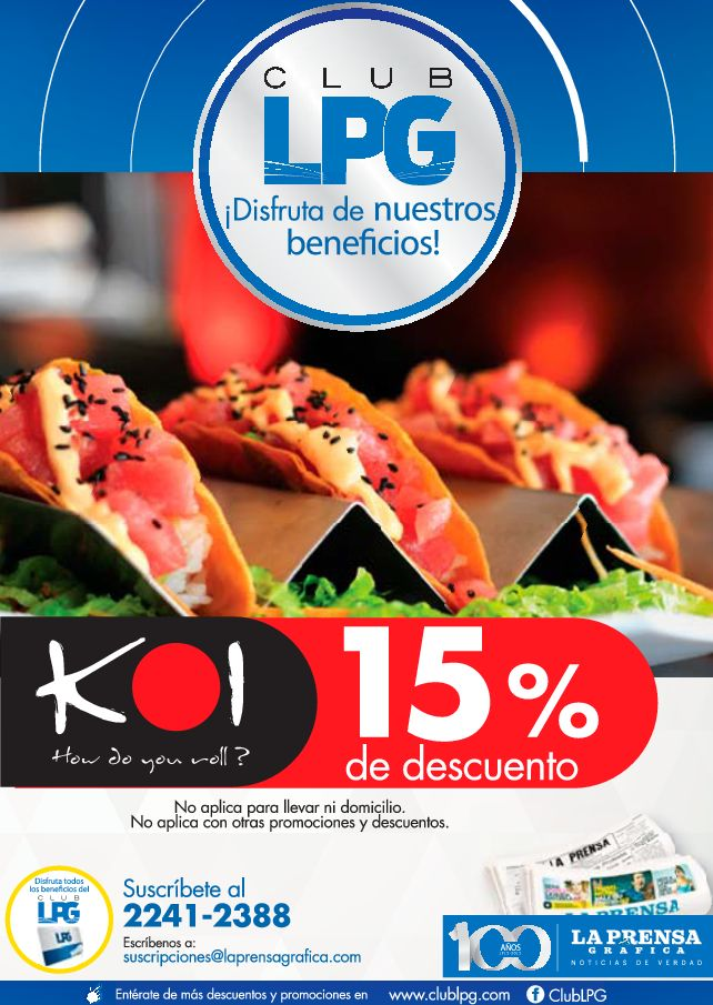 Roll of sushi 15 OFF KOI restaurant