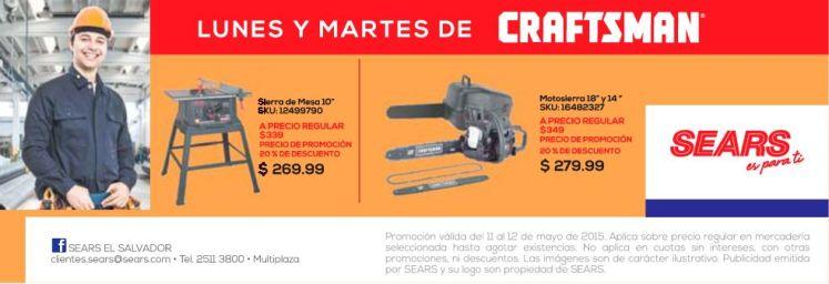 Sierra y Motosierras CRAFTSMAN ofertas sears - 12may15