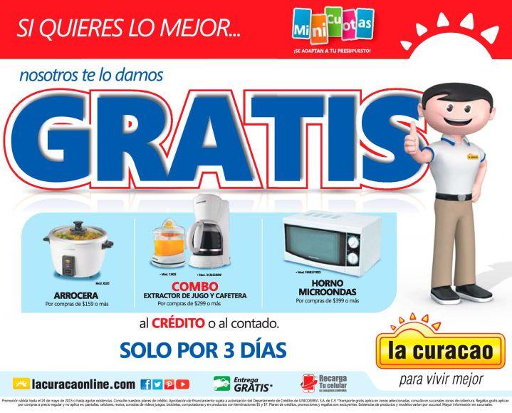 Solo por 3 dias BONITOS premios GRATIS en la curacao - 22may15