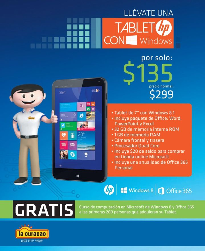 TABLET hp con Windows Promociones con cupones EDH
