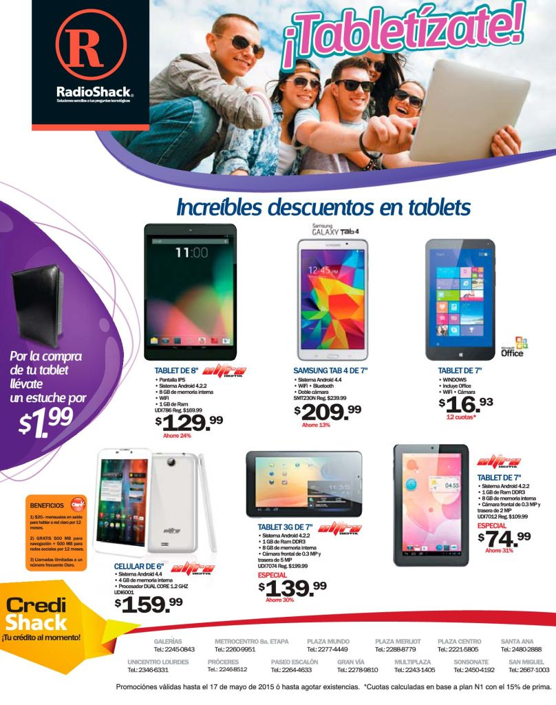 TABLETIZATE con RadioShack descuentos increibles en tablets - 15may15