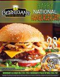 Todas las hamburguesas a 5 dolares en Bennigans ahora - 28may15