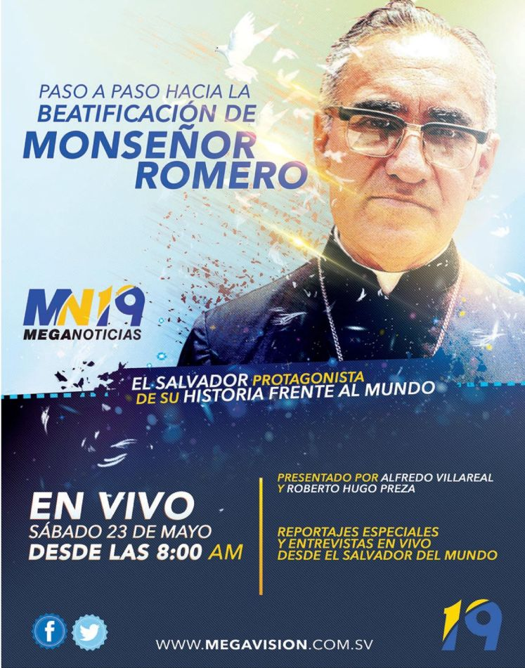 Transmision en VIVO Beatificacion Monsenor Romero TV signal stream
