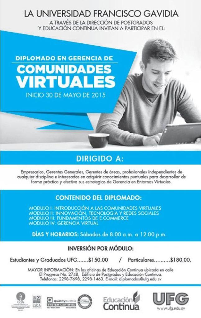 course of VIRTUAL COMMUNITIES universidad francisco gavidia