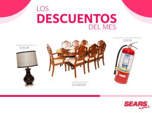 hogar Decuentos SEARS mes de mayo 2015