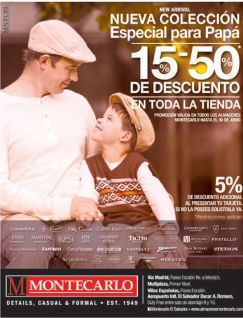 new colleciton for DAD with DISCOUNTS montecarlo