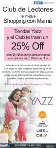 shopping with MOM 25 OFF en tiendas YAZZ - 05may15