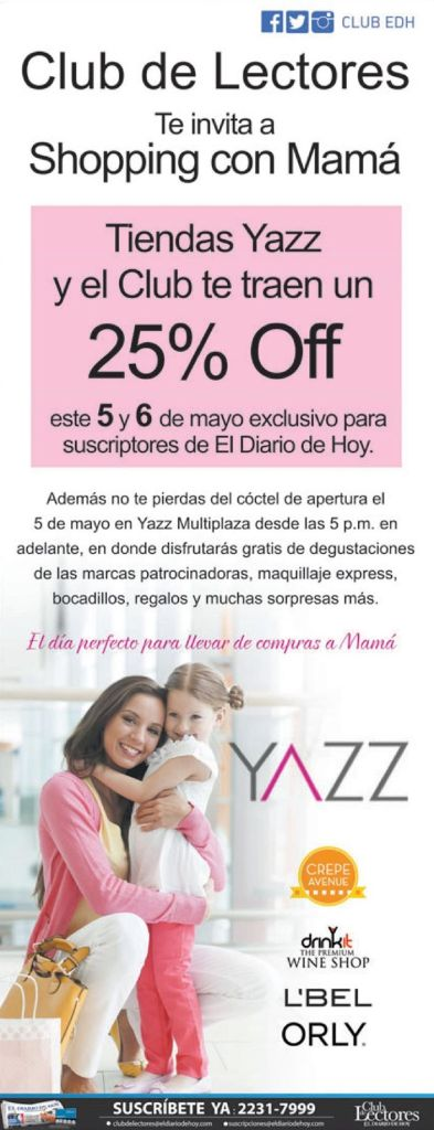 shopping with MOM 25 OFF en tiendas YAZZ - 05may15