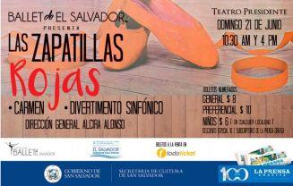BALLET el salvador presentra Las ZAPATILLAS ROJAS