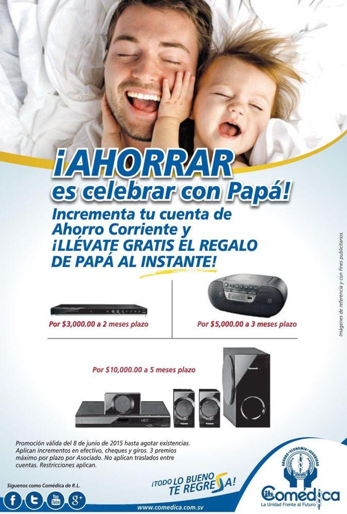 COMEDICA tiene promociones para papa al instante