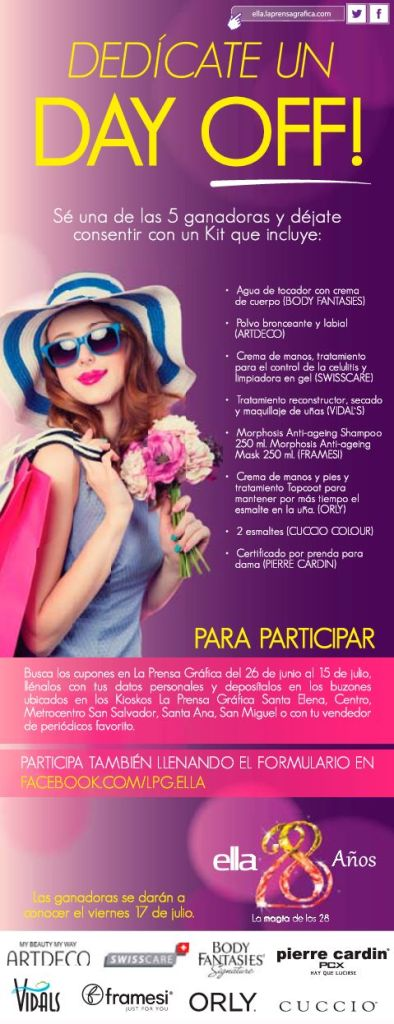 DAY OFF for girls particpa y gana con CLUB ELLA