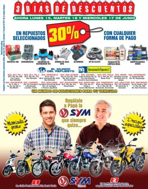 Descuentos en repuestos y motos para PAPA - 15jun15