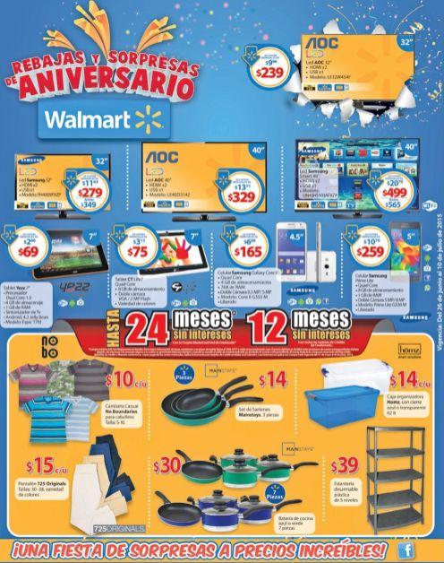 HOgar Tecnologia Electro WALMART promociones de aniversario- 26jun15
