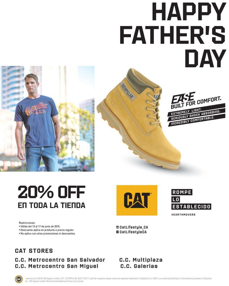 Happy fathers day CAT shoes store